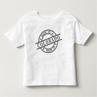 Made In Colorado Stamp Style Logo Symbol Black Toddler T-shirt