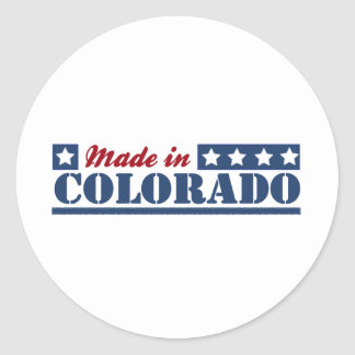 Made In Colorado Round Stickers