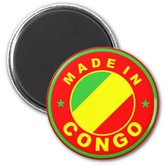 made in congo country flag product label round magnets