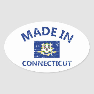 Made in Connecticut Oval Sticker