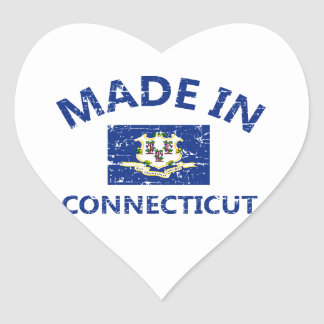 Made in Connecticut Heart Stickers