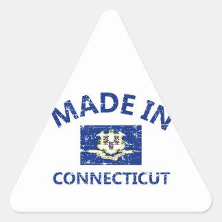 Made in Connecticut Triangle Sticker