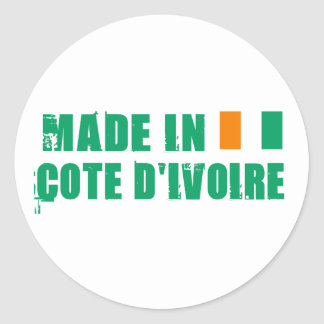 Made in Cote D&Apos;Ivoire Round Sticker