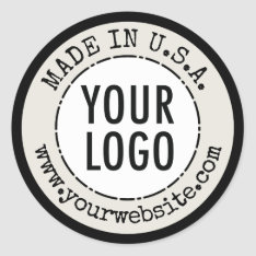 Made In Country Of Origin Stickers Product Labels at Zazzle