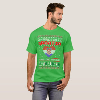 Made In Croatia Country Christmas Ugly Sweater Tee