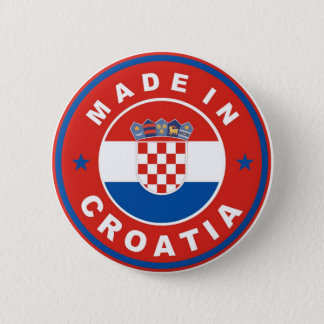 made in croatia country flag product label round pinback button