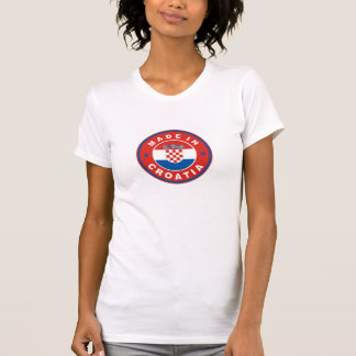 made in croatia country flag product label round T-Shirt