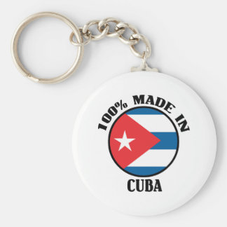 Made In Cuba Basic Round Button Keychain
