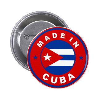 made in cuba country flag product label round button
