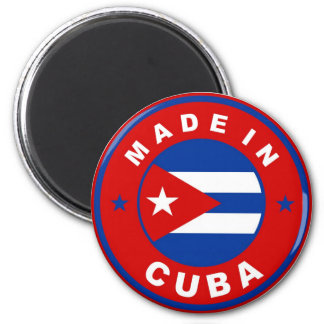 made in cuba country flag product label round magnet