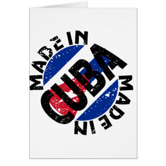 Made In Cuba Label Note Cards