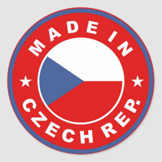 made in czech republic country flag product label