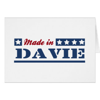 Made in Davis Greeting Card
