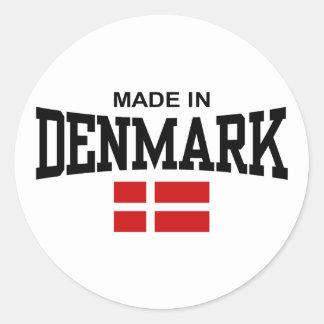 Made In Denmark Classic Round Sticker