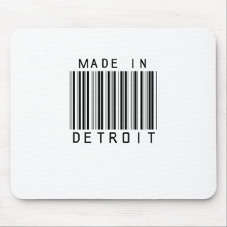 Made in Detroit Barcode Mouse Pad