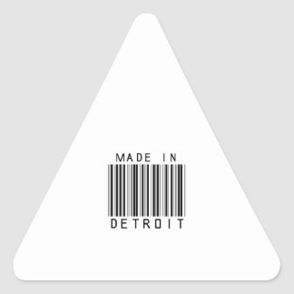 Made in Detroit Barcode Triangle Sticker