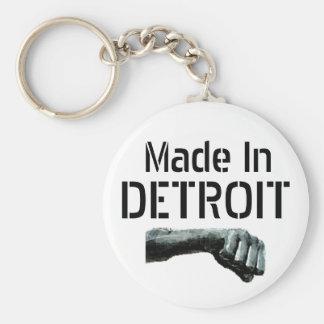 Made in Detroit Basic Round Button Keychain