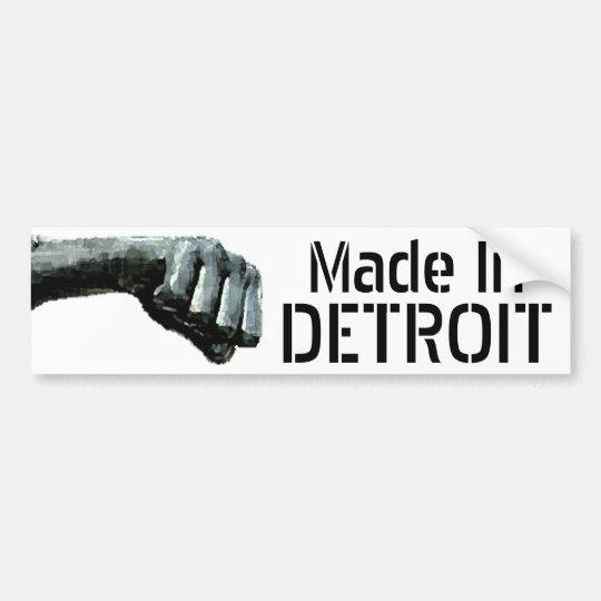 Made In Detroit Bumper Sticker