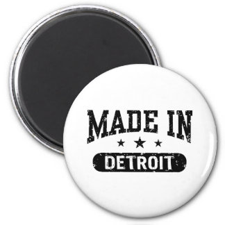 Made In Detroit 2 Inch Round Magnet