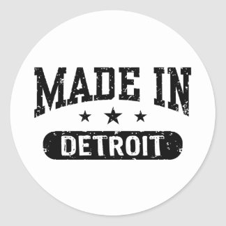 Made In Detroit Classic Round Sticker