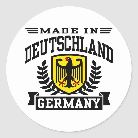 Made In Deutschland Classic Round Sticker