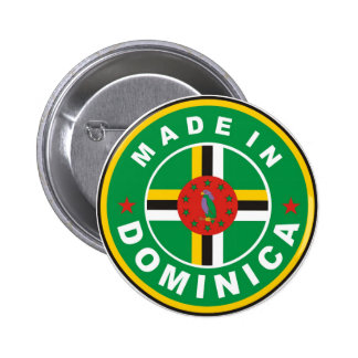 made in dominica country flag label round stamp pins