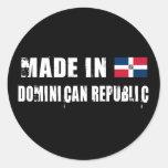 Made in Dominican Republic Classic Round Sticker