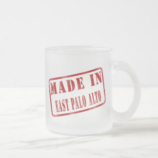 Made in East Palo Alto 10 Oz Frosted Glass Coffee Mug