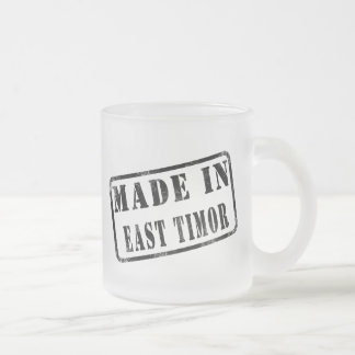 Made in East Timor Frosted Glass Coffee Mug