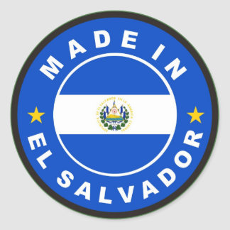 made in el salvador country flag product label