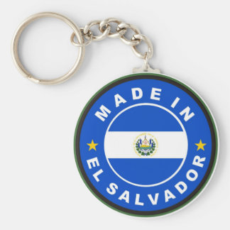 made in el salvador country flag product label keychain