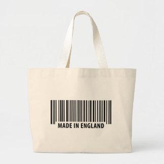 made in england bar code barcode canvas bags