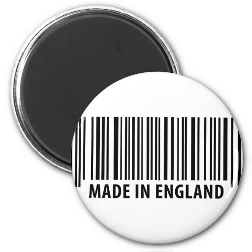made in england bar code barcode magnet