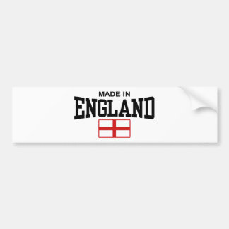 Made In England Bumper Sticker