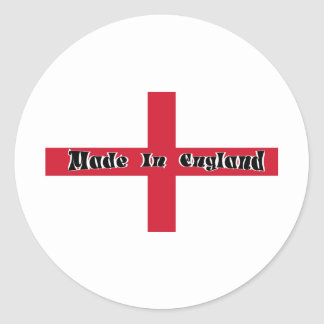 Made In England Classic Round Sticker