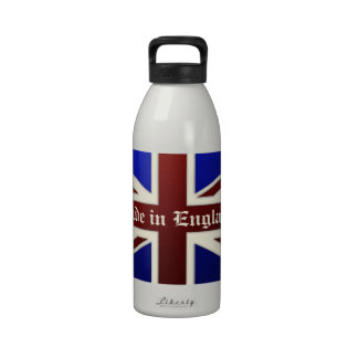 Made in England Metallic Union Jack Flag Water Bottles
