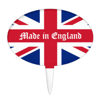Made in England-Union Jack Oval Cake Picks