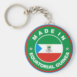made in equatorial guinea flag product label round basic round button keychain