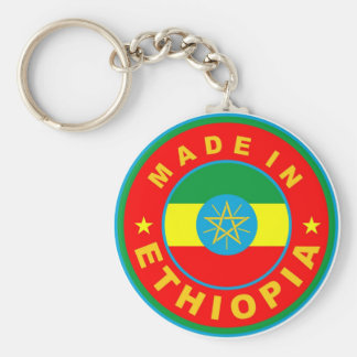 made in ethiopia country flag product label round basic round button keychain