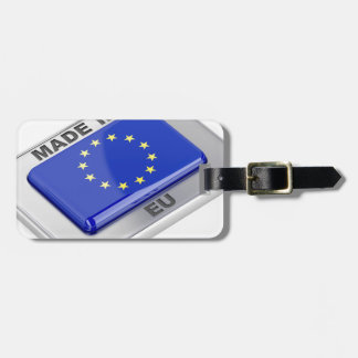 Made in European Union Luggage Tag