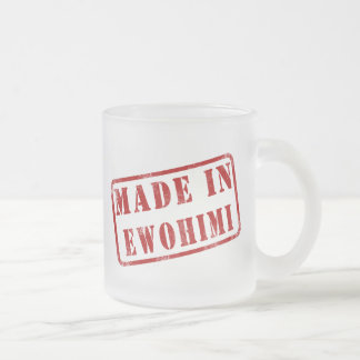 Made in Ewohimi 10 Oz Frosted Glass Coffee Mug
