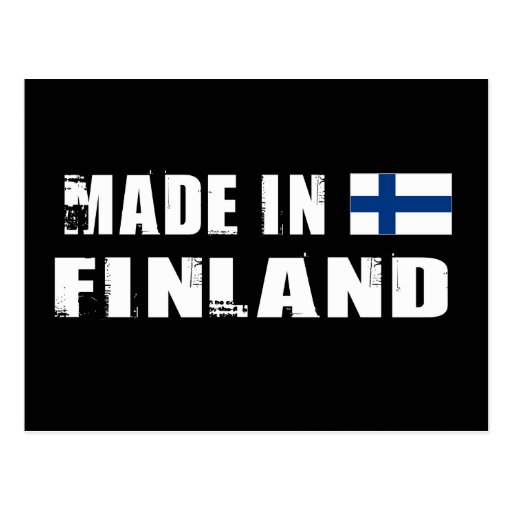 Made in Finland Postcard