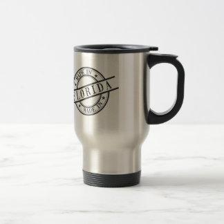 Made In Florida Stamp Style Logo Symbol Black Travel Mug