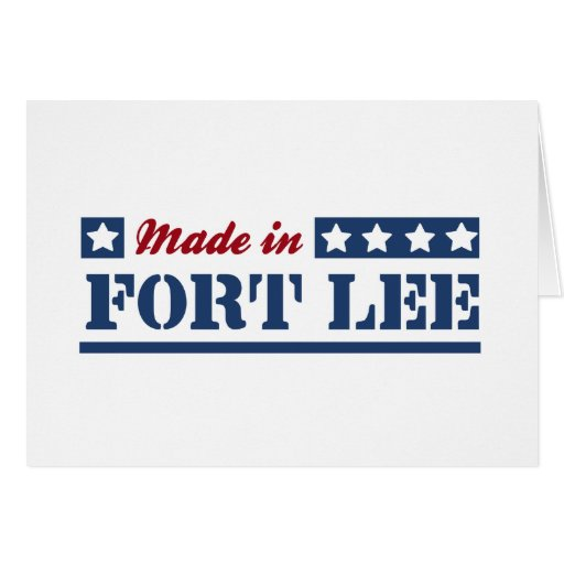 Made in Fort Lee Greeting Card