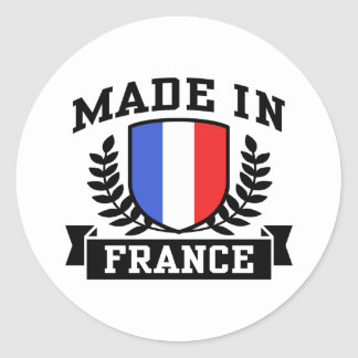 Made In France Classic Round Sticker