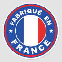 made in france country flag label fabrique french