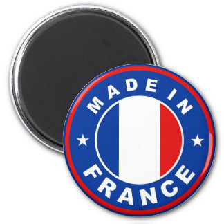 made in france country flag label round stamp magnet
