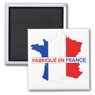 made in france country map flag label fabrique magnet