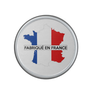 made in france country map flag label fabrique speaker