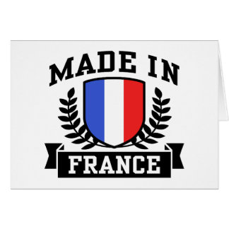 Made In France Greeting Card